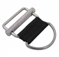 60121 WEBBING WEIGHT KEEPER ZEEPRO STAINLESS 316 SLIDING BAR DRING SIDE  large