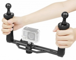 DUAL HAND STABILIZER CAMERA TRAY GOPRO  large
