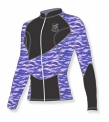 JACKET GULL 1,5MM TIGER CAMO PURPLE BALIDIVESHOP  large