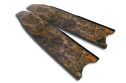 brown camo fins leaderfins blades 4 3  large