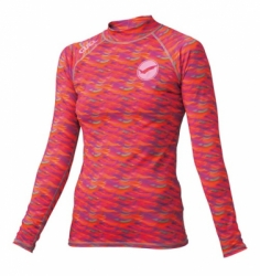 gw 6605 rash guard gull women  large